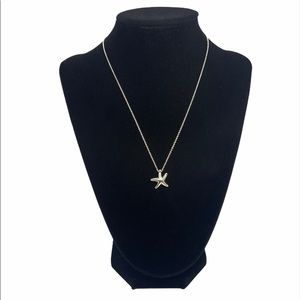 "Tiffany & Co. Starfish Pendant Necklace 16"""
